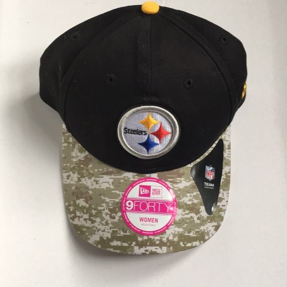d64e9957 New ✨ Women's adjustable camo Steelers NFL hat NWT